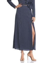 The Fifth Label - Blue Fountain Polka Dot Maxi Skirt - Lyst
