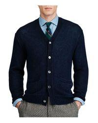 Polo Ralph Lauren Blue Linen V-neck Cardigan Sweater for men