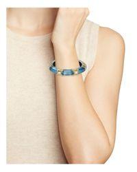 Alexis Bittar - Blue Pavé Segmented Lucite Hinge Bangle - Lyst