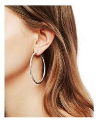 John Hardy - Metallic Bamboo Large Continuous Hoop Earrings - Lyst