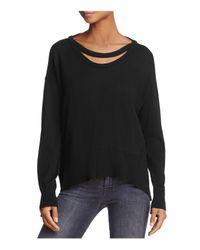 Wilt Black Cutout Asymmetric Sweater
