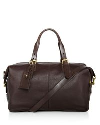 Cole Haan - Brown Brayton Pebbled Leather Duffel for Men - Lyst