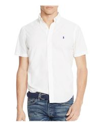 Polo Ralph Lauren - White Cotton Silk Regular Fit Button-down Shirt for Men - Lyst
