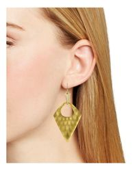 Alexis Bittar | Metallic Pointed Pyramid Drop Earrings | Lyst