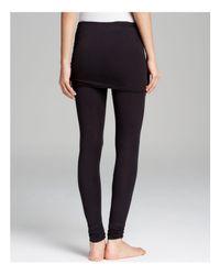 Splendid - Black Skirt Leggings - Fold Over - Lyst