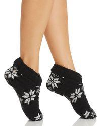 Ralph Lauren - Black Lauren Snowflake Slipper Socks - Lyst