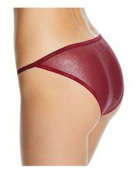 CALVIN KLEIN 205W39NYC - Red Sheer Marquisette Foiled String Bikini - Lyst