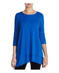 Eileen Fisher - Blue Layered Look Tunic Top - Lyst
