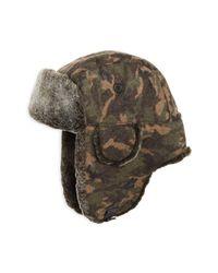Crown Cap - Multicolor Shearling Aviator Hat for Men - Lyst