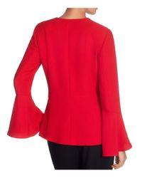 Catherine Malandrino - Red Bell-sleeve Open Blazer - Lyst