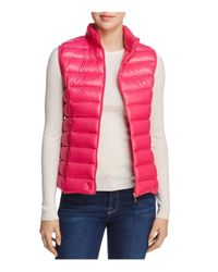 Aqua - Pink Packable Down Vest - Lyst