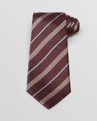 Armani   Purple Woven Contrast Stripe Classic Tie for Men   Lyst