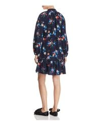 Tory Burch - Blue Gabrielle Floral-print Dress - Lyst