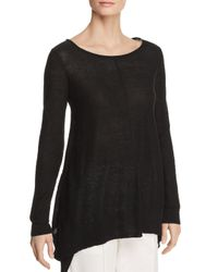 Donna Karan - Black New York Linen Step-hem Sweater - Lyst