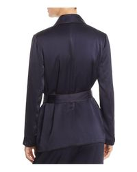 Joie - Blue Soft Anasophia Belted Piped Blazer - Lyst