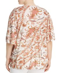 Lucky Brand - Multicolor Printed Wrap Top - Lyst