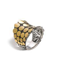 John Hardy - Metallic Dot Gold & Silver Saddle Ring - Lyst