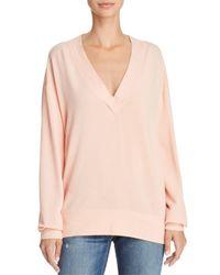 Rag & Bone - Pink V-neck Sweatshirt - Lyst