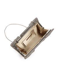 Sondra Roberts - Pleated Metallic Frame Clutch - Lyst