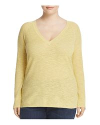 Eileen Fisher - Yellow V-neck Sweater - Lyst