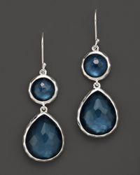 Ippolita | Blue Sterling Silver Wonderland Teardrop Snowman Doublet Earrings In Indigo | Lyst