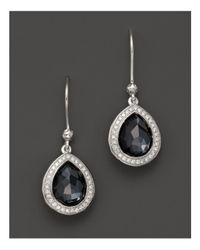 Ippolita - Multicolor Stella Teardrop Earrings In Hematite Doublet With Diamonds In Sterling Silver - Lyst