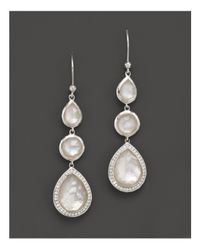 Ippolita - Multicolor Stella Drop Earrings In Mother-of-pearl Doublet With Diamonds In Sterling Silver - Lyst