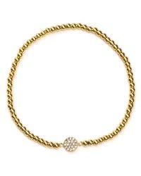 Aqua - Metallic Beaded Bracelet - Lyst