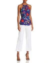 Parker - Blue Jill Tie-waist Floral-print Top - Lyst