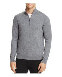 Michael Kors | Gray Merino Wool Half-zip Sweater for Men | Lyst