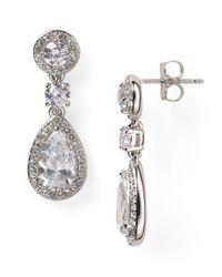 Nadri | Metallic Framed Drop Earrings | Lyst