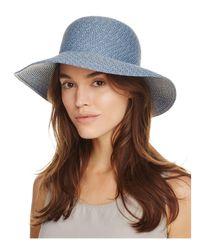 Eric Javits - Blue Packable Squishee Iv Short Brim Sun Hat - Lyst