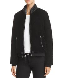 Marc New York - Black Vita Velvet Puffer Coat - Lyst