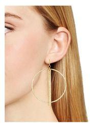 Stephanie Kantis - Metallic Column Hoop Earrings - Lyst
