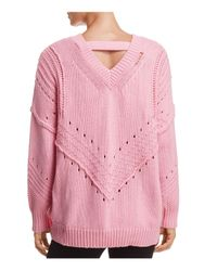 Honey Punch | Pink Copycat V-back Sweater | Lyst