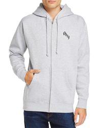 Obey - Gray Reaper's Delight Zip Hooded Sweatshirt for Men - Lyst