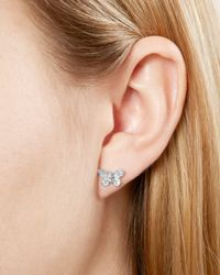 Olivia Burton - Metallic 3-d Butterfly Stud Earrings - Lyst