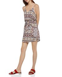 BCBGeneration - Multicolor Tropical Tie-front Dress - Lyst