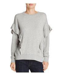 Joie - Gray Agnia Ruffled Sweatshirt - Lyst