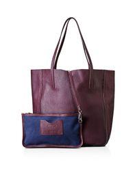 Shinola - Purple Medium Leather Tote - Lyst