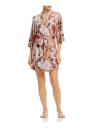 Flora Nikrooz - Pink Rochelle Printed Knit Robe - Lyst