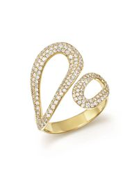 Ippolita - Metallic 18k Yellow Gold Cherish Diamond Bypass Ring - Lyst