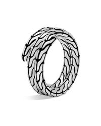 John Hardy - Metallic Sterling Silver Classic Chain Double Coil Ring - Lyst
