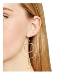 Aqua - Metallic Mallory Circles Drop Earrings - Lyst