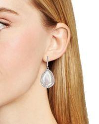 Nadri - White Sterling Mother-of-pearl Teardrop Earrings - Lyst