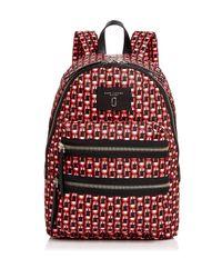 Marc Jacobs - Red Biker Logo Scream Print Backpack - Lyst