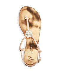 Giuseppe Zanotti - Multicolor Rock 10 Infradito Embellished T-strap Sandals - Lyst