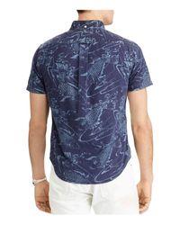 Polo Ralph Lauren | Blue Koi Fish Print Slim Fit Button-down Shirt for Men | Lyst