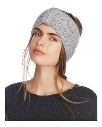 Rosie Sugden - Gray Knit Cashmere Headband - Lyst