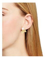 Kate Spade - Metallic Leaf Stud Earrings - Lyst
